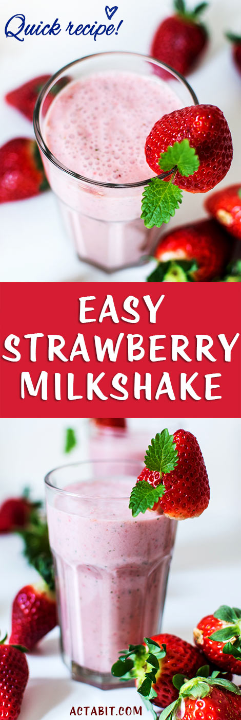 Easy Strawberry Milkshake Recipe