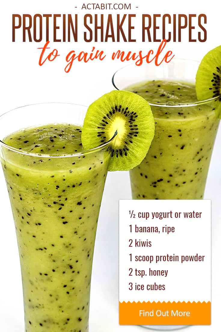 This healthy homemade protein shake blends yogurt, protein powder, fruit, honey, and ice, creating a delicious meal in a glass. Check easy protein shake recipes to gain muscle and lose weight.