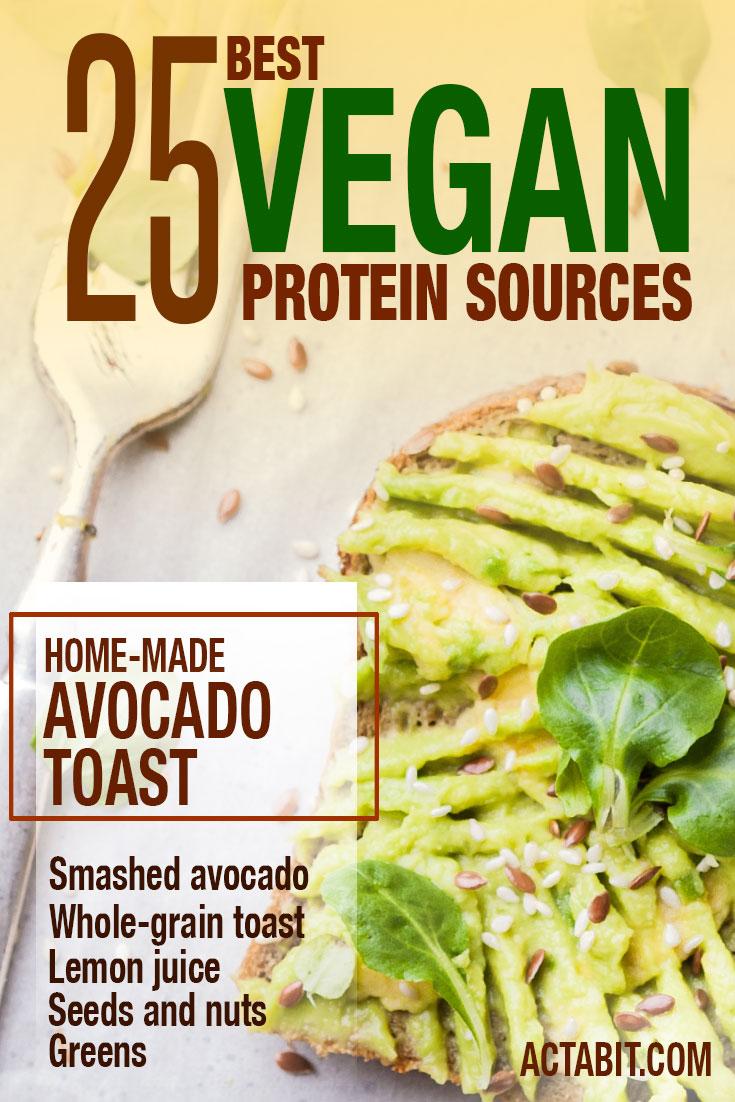Top 25 vegan protein sources