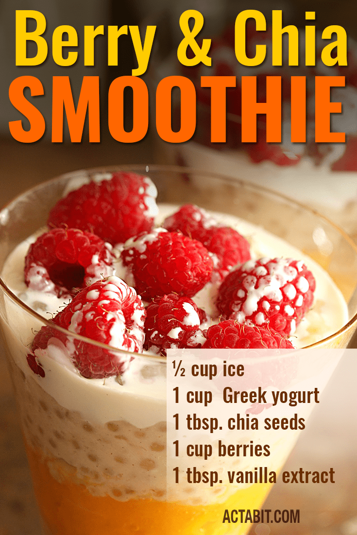 Berry and Chia Weight Loss Smoothie Recipe