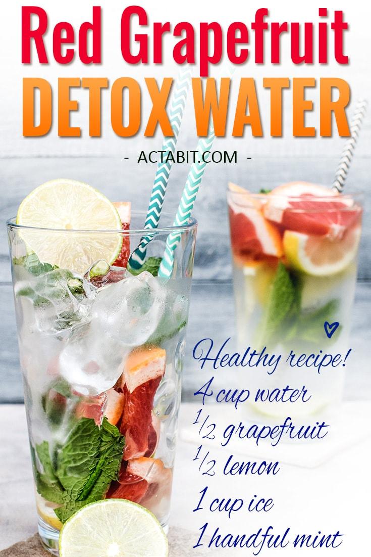 Red Grapefruit Detox Water Recipe