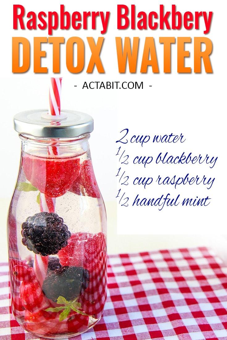 Raspberry and Blackberry Detox Water
