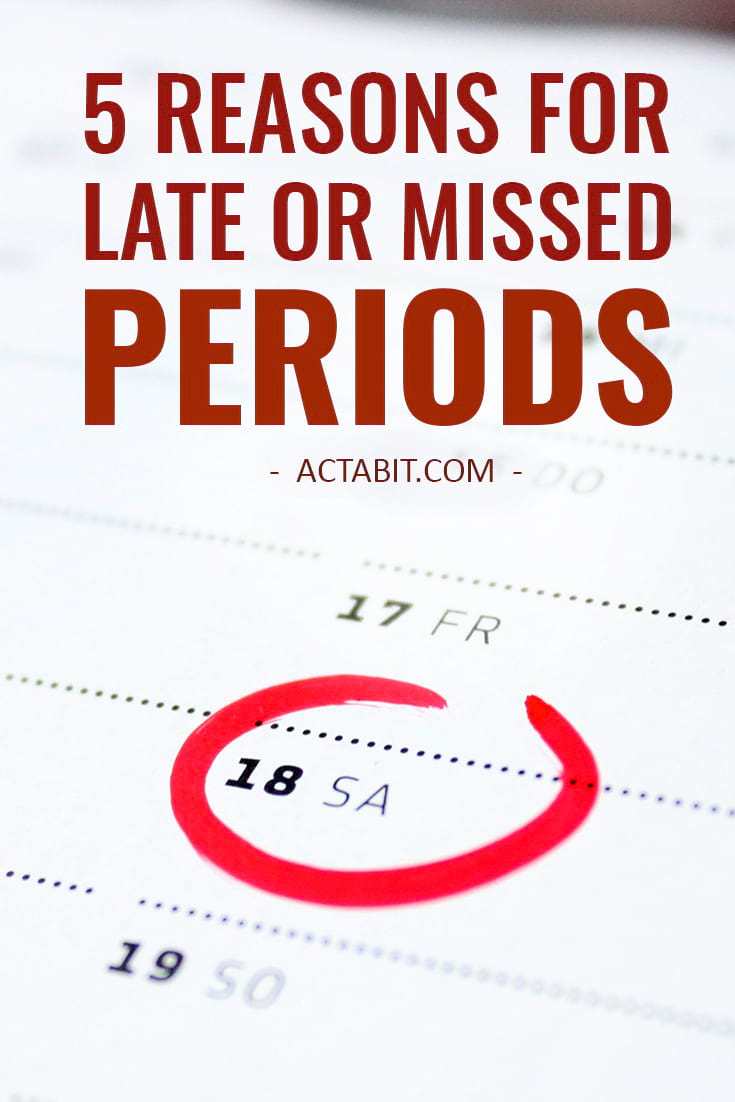 Pregnancy is the first thing  that comes to mind when your period is late but delayed or missed periods happen for many reasons other than pregnancy.