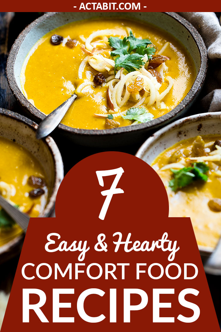Get 7 fast, easy and healthy comfort food recipes and dinner ideas for cold weather, perfect for family winter weeknight meals.